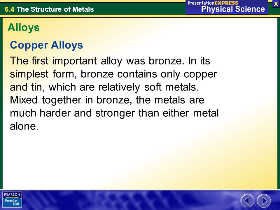 Alloys Copper Alloys.