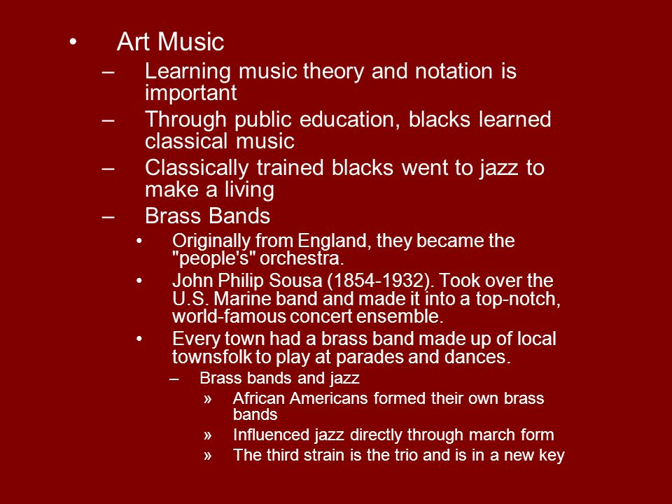 Art Music Learning music theory and notation is important