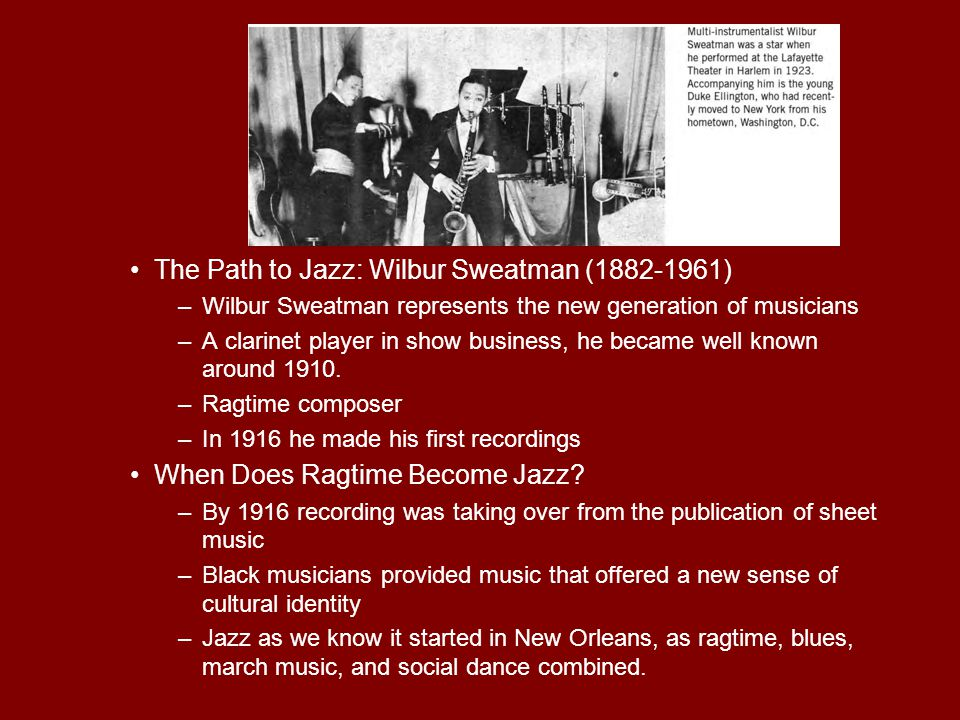 The Path to Jazz: Wilbur Sweatman (1882-1961)
