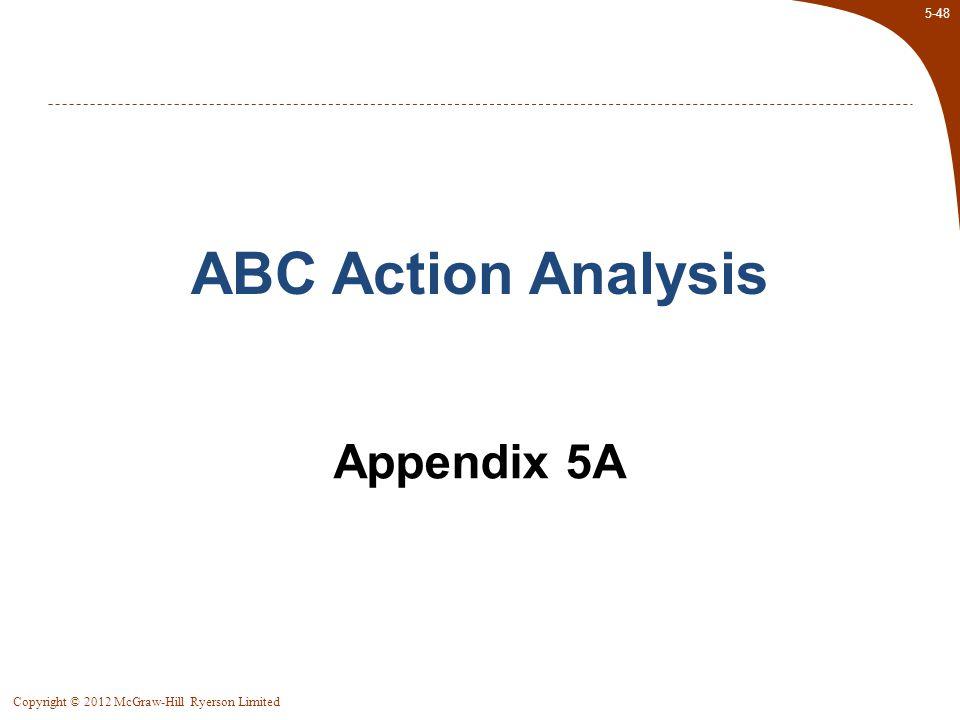 ABC Action Analysis Appendix 5A