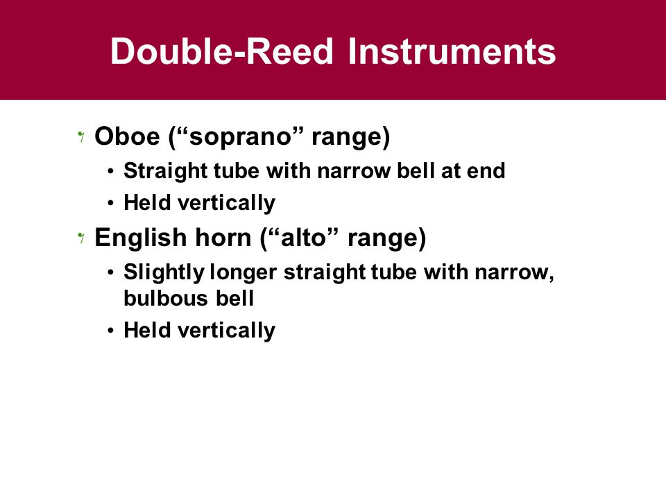 Double-Reed Instruments