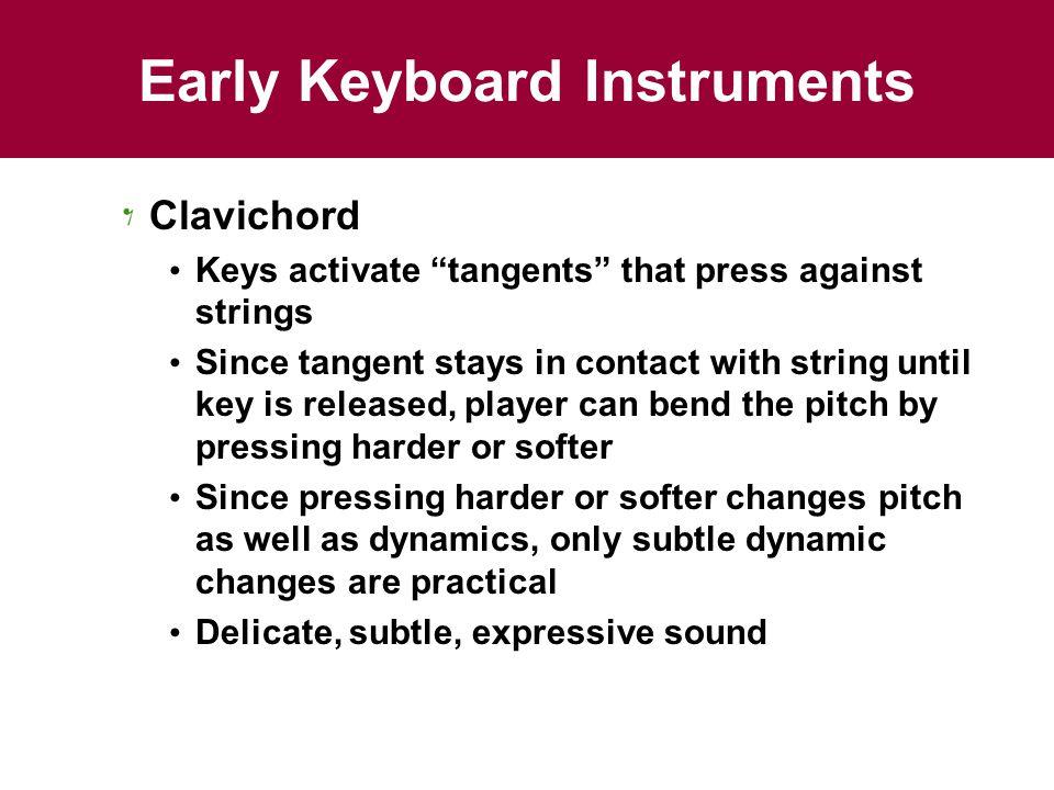 Early Keyboard Instruments