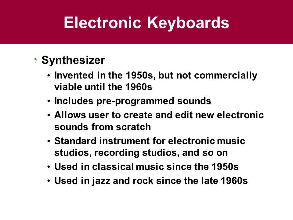 Electronic Keyboards Synthesizer