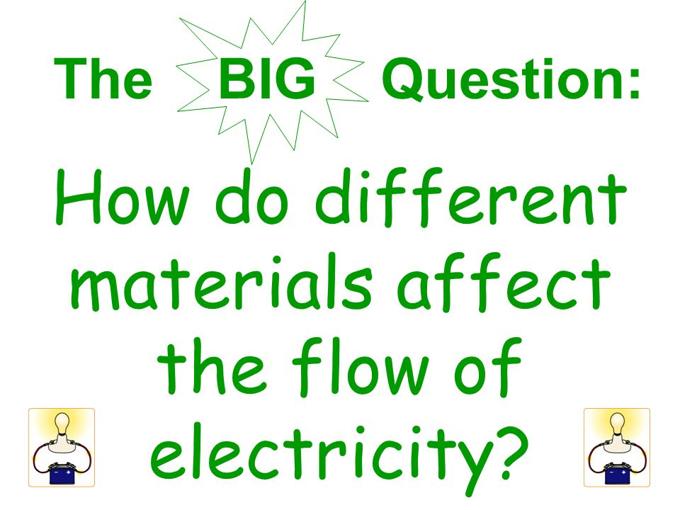 How do different materials affect the flow of electricity