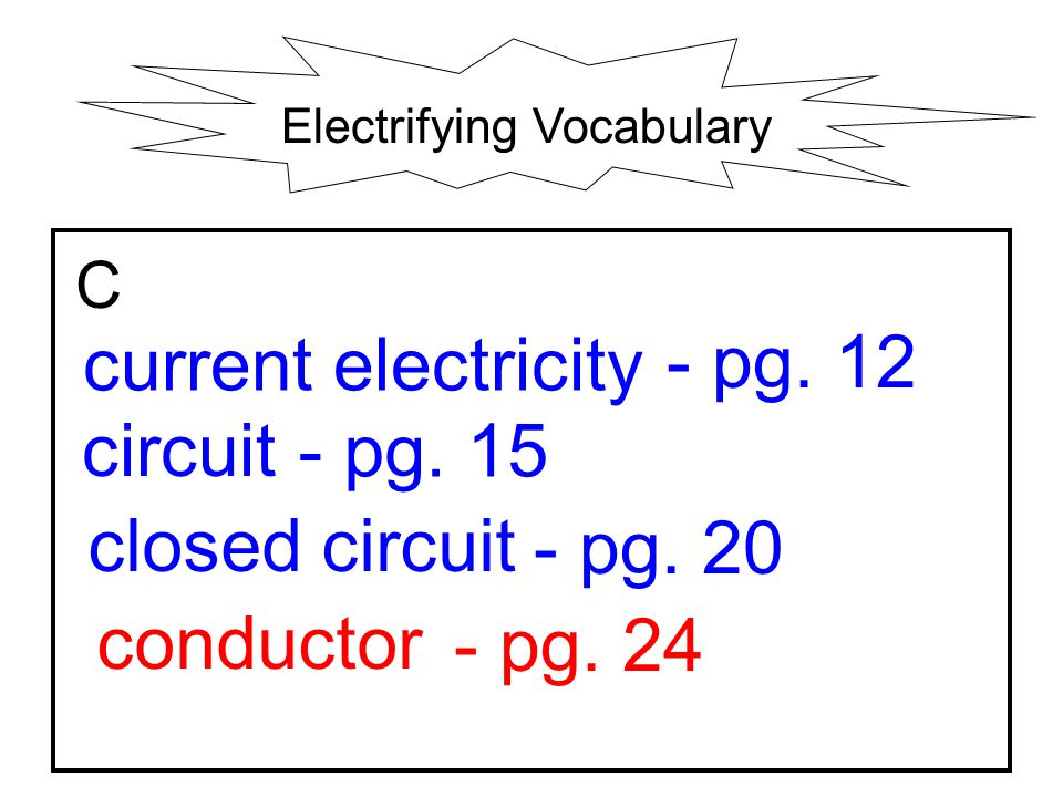 Electrifying Vocabulary