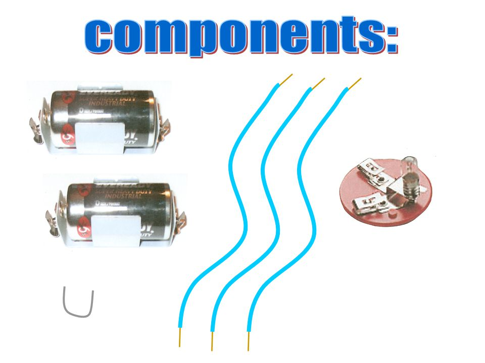 components: I would like you take the following components out of your box.