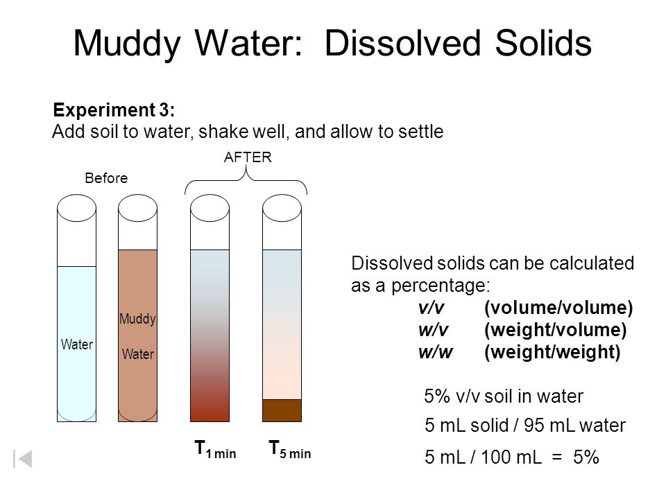 Muddy Water: Dissolved Solids