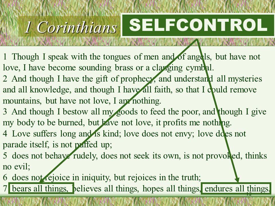 1 Corinthians 13:1-7 (LOVE) SELFCONTROL