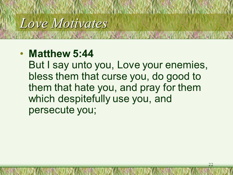Love Motivates