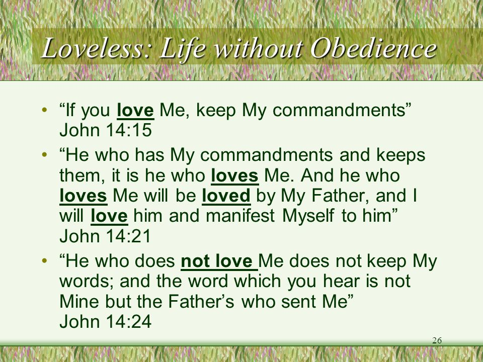 Loveless: Life without Obedience