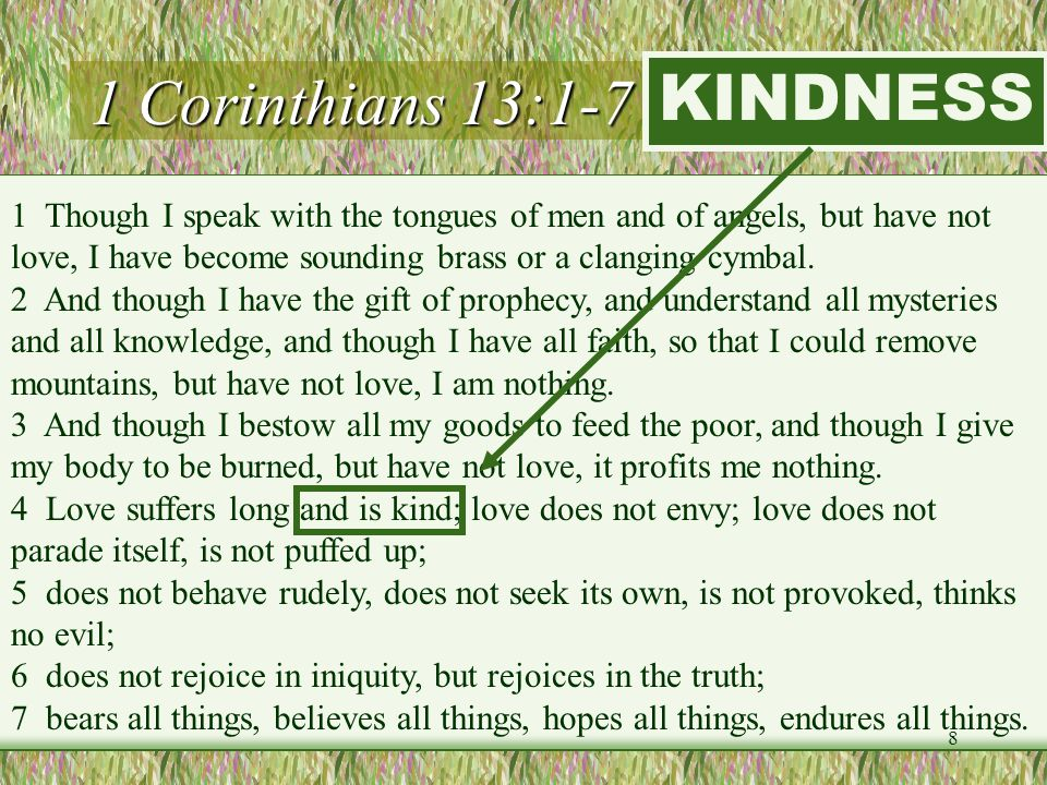 1 Corinthians 13:1-7 (LOVE) KINDNESS