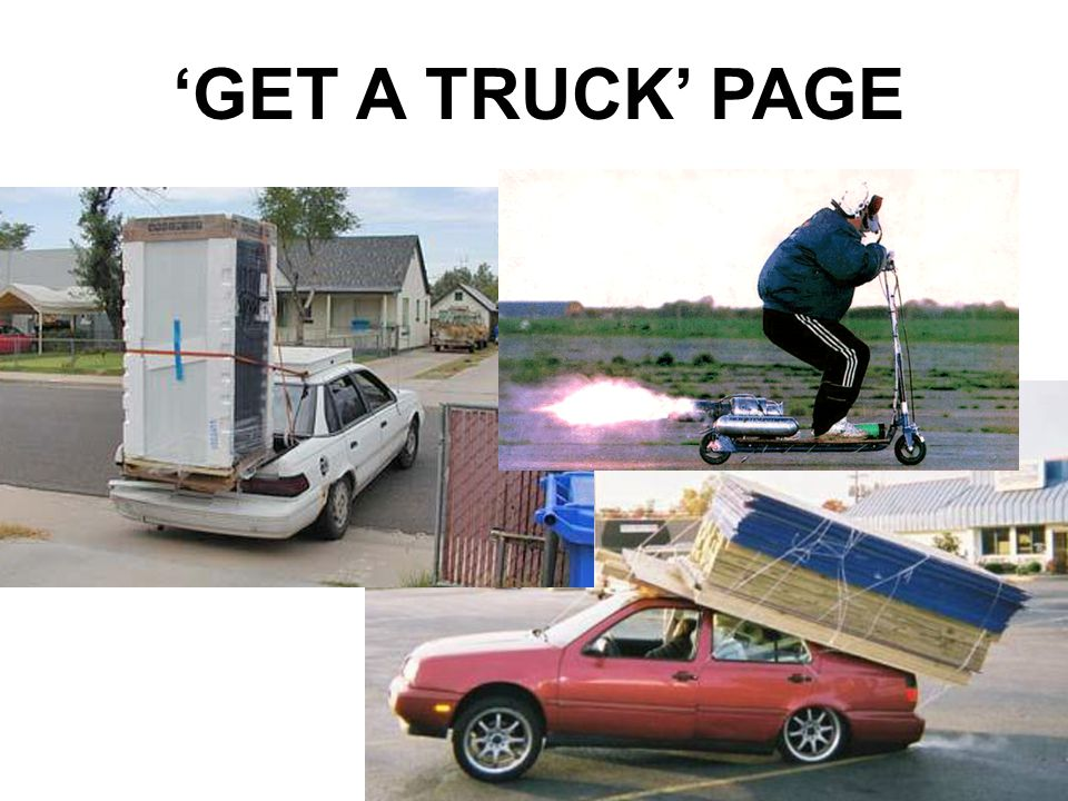 'GET A TRUCK' PAGE