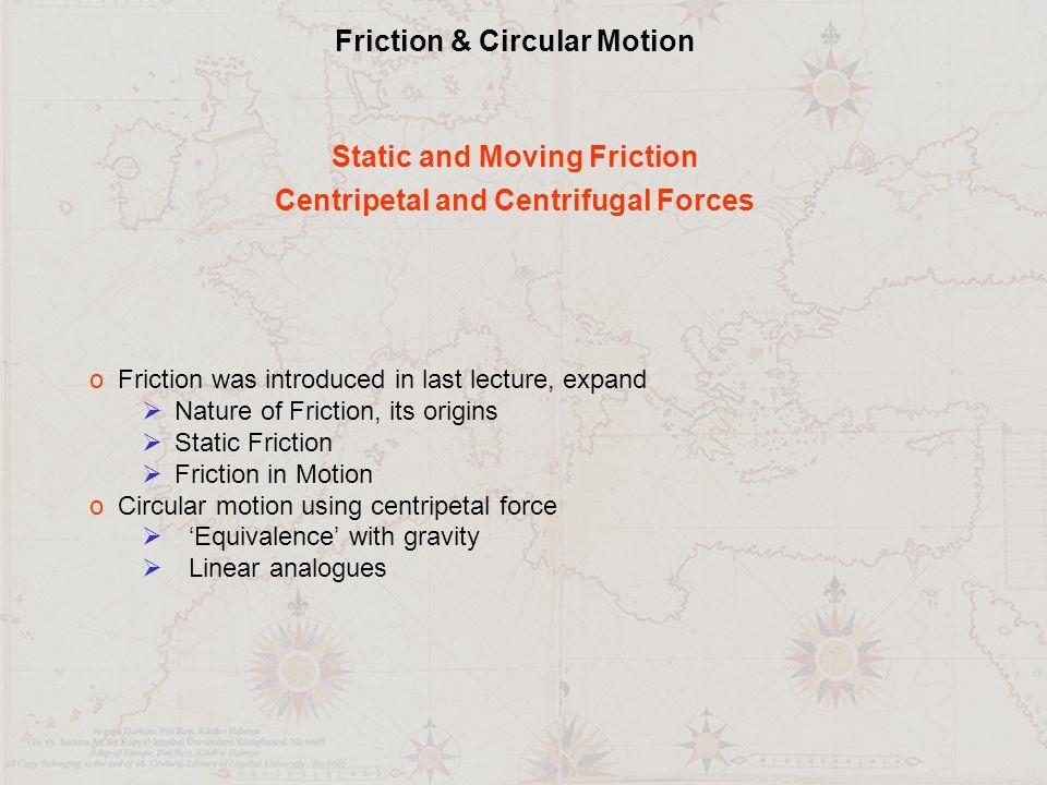 Friction & Circular Motion