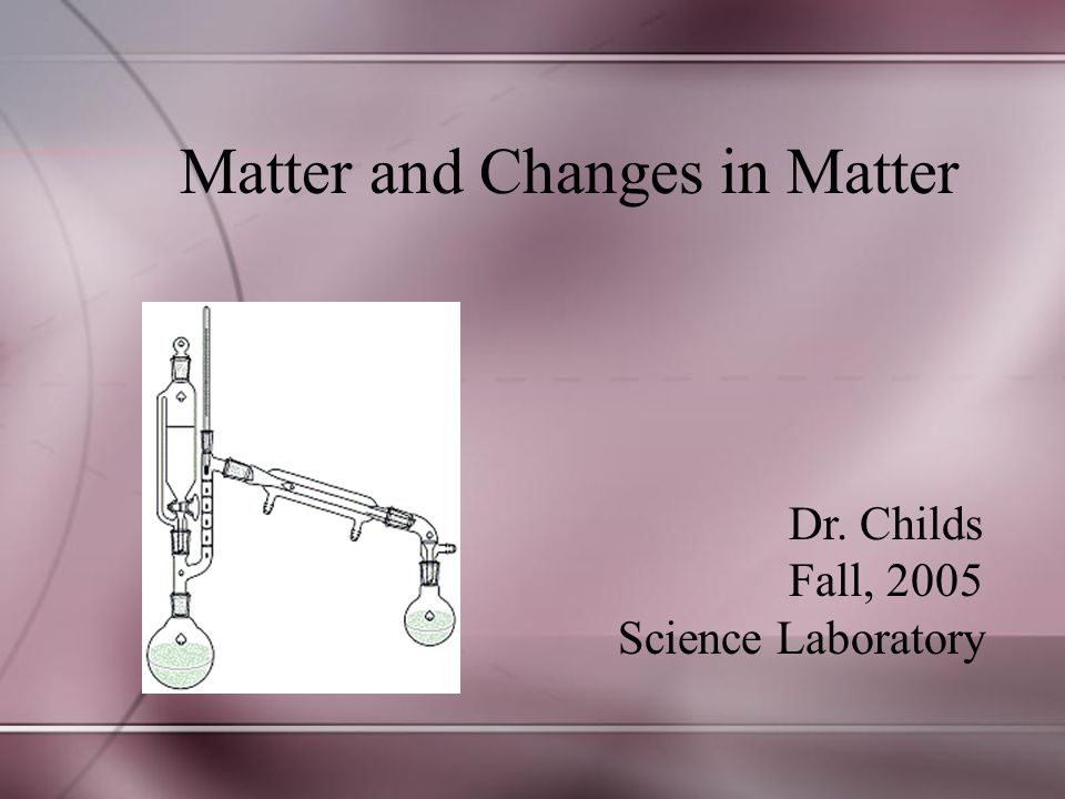 Matter and Changes in Matter