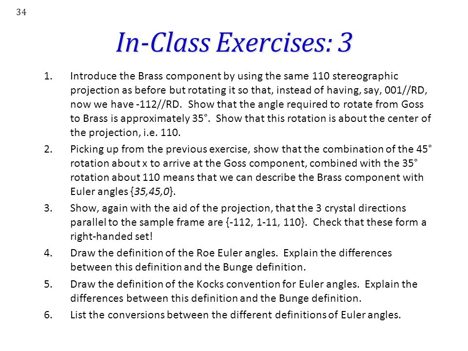 In-Class Exercises: 3