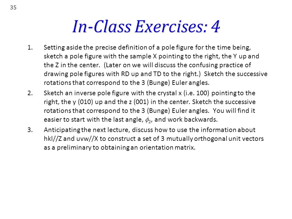 In-Class Exercises: 4