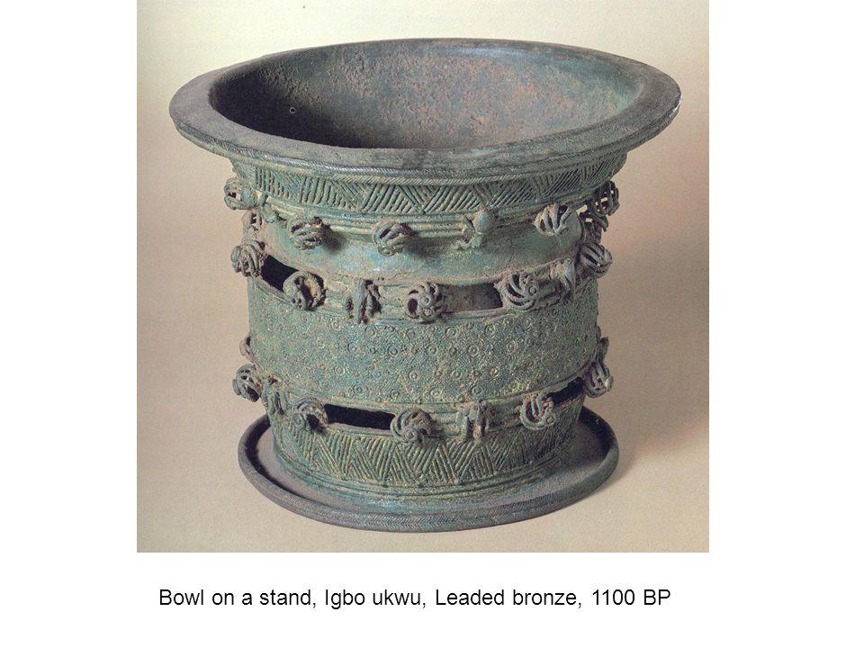Bowl on a stand, Igbo ukwu, Leaded bronze, 1100 BP