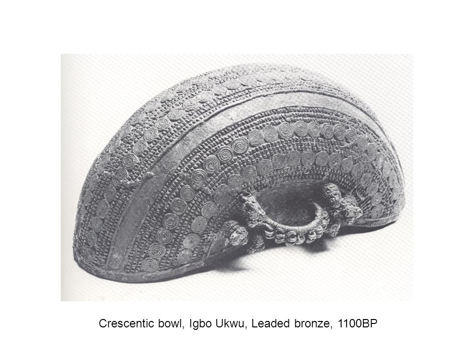 Crescentic bowl, Igbo Ukwu, Leaded bronze, 1100BP