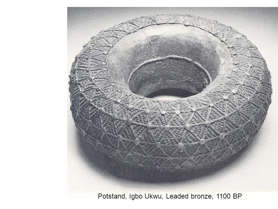 Potstand, Igbo Ukwu, Leaded bronze, 1100 BP