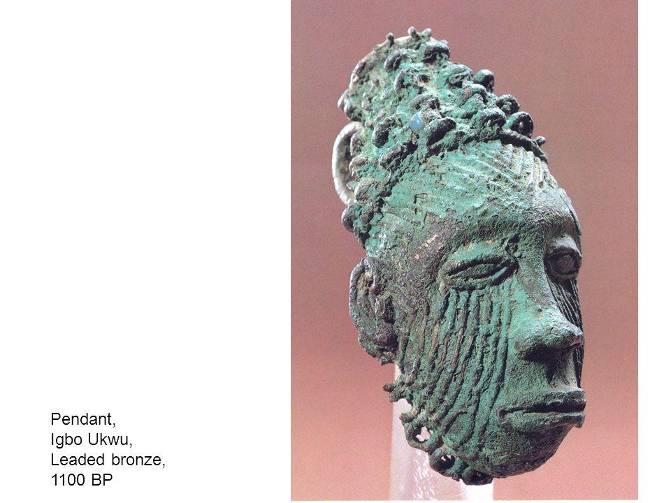 Pendant, Igbo Ukwu, Leaded bronze, 1100 BP