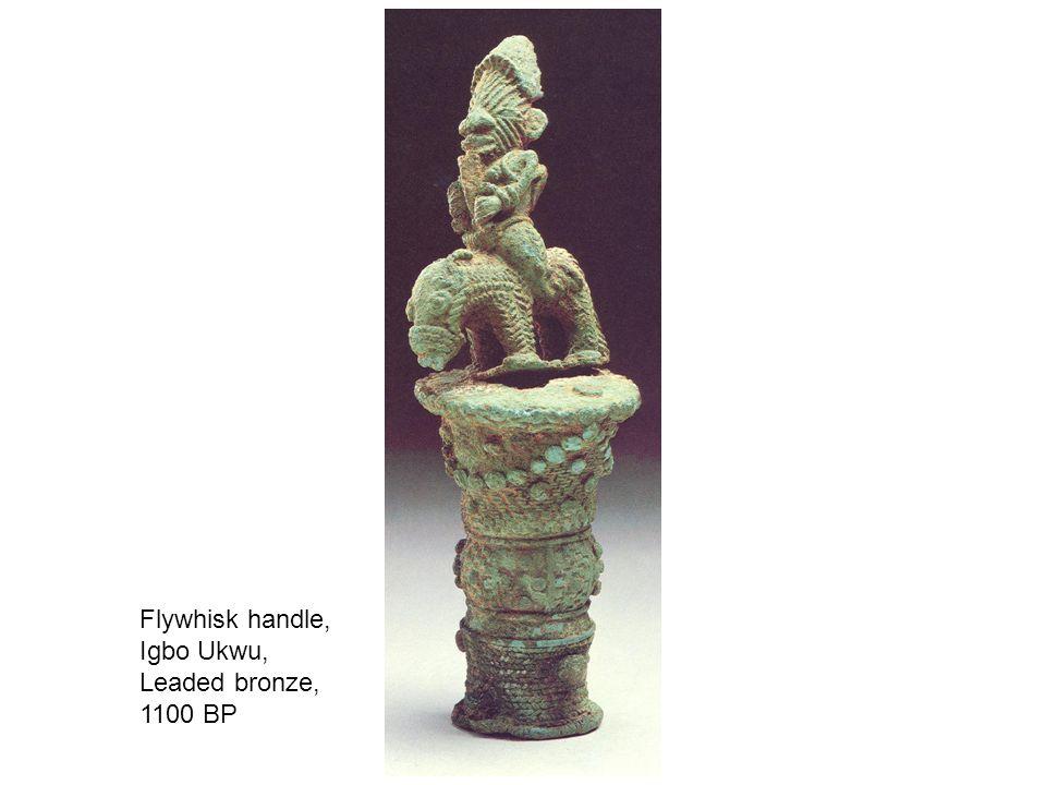 Flywhisk handle, Igbo Ukwu, Leaded bronze, 1100 BP