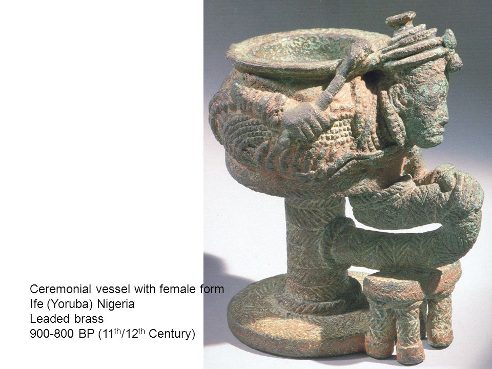 Ceremonial vessel with female form