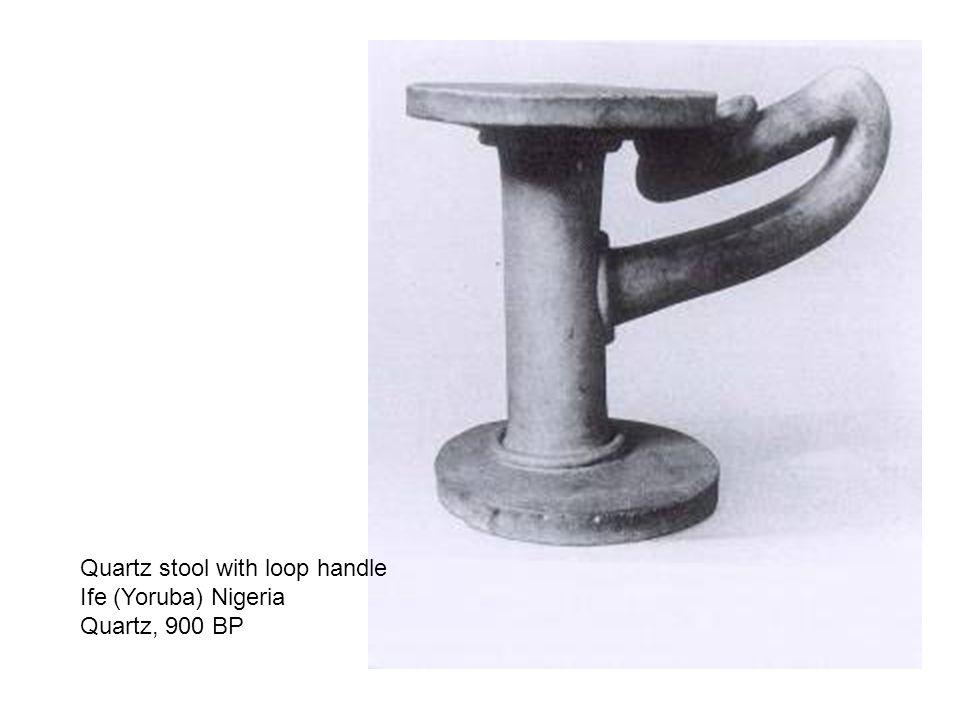 Quartz stool with loop handle