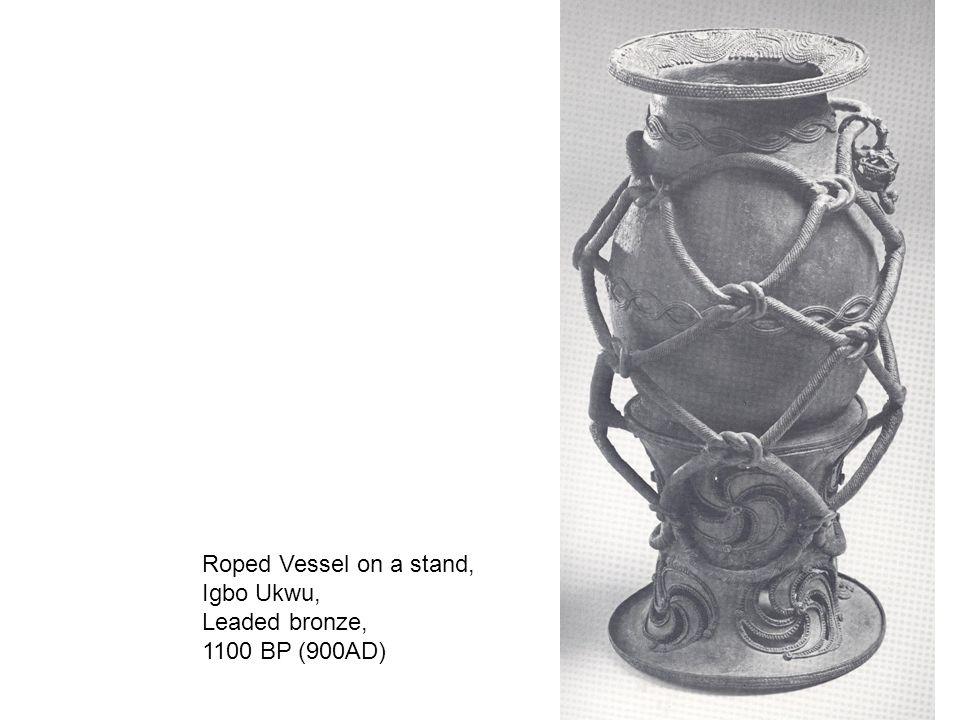 Roped Vessel on a stand, Igbo Ukwu, Leaded bronze, 1100 BP (900AD)