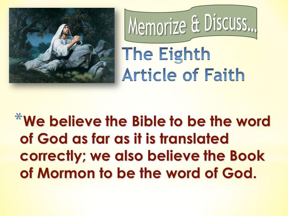 The Eighth Article of Faith