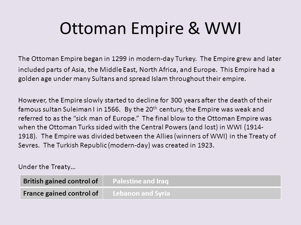 Ottoman Empire & WWI