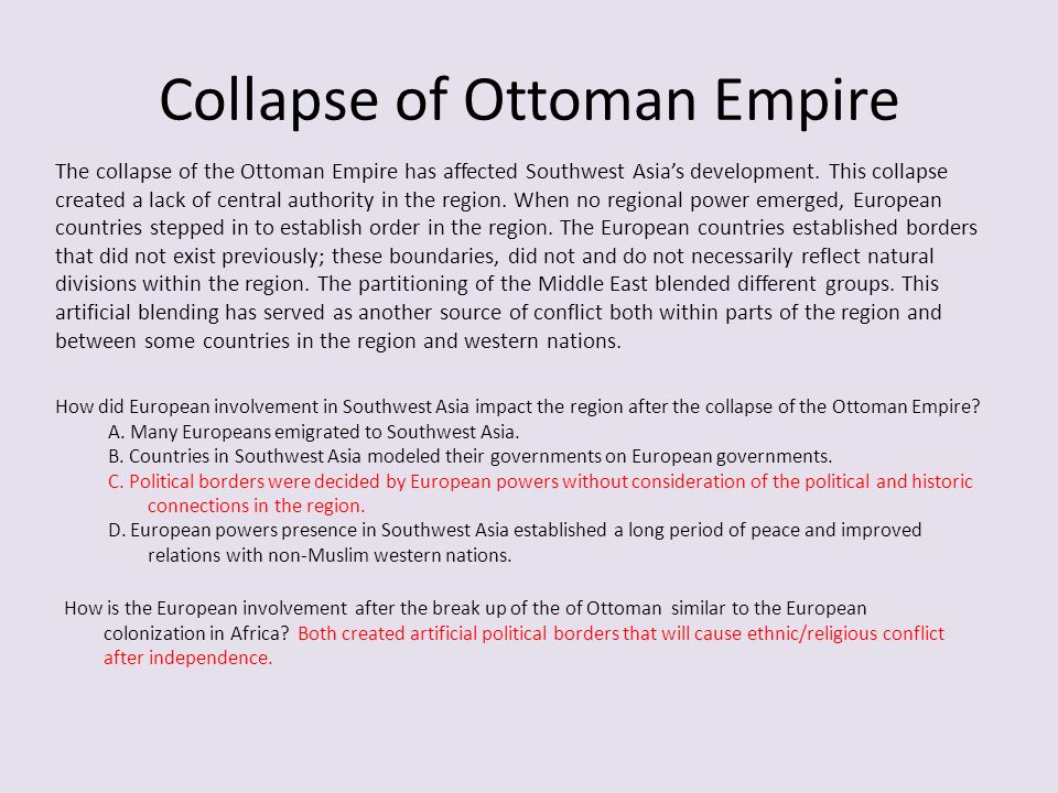 Collapse of Ottoman Empire