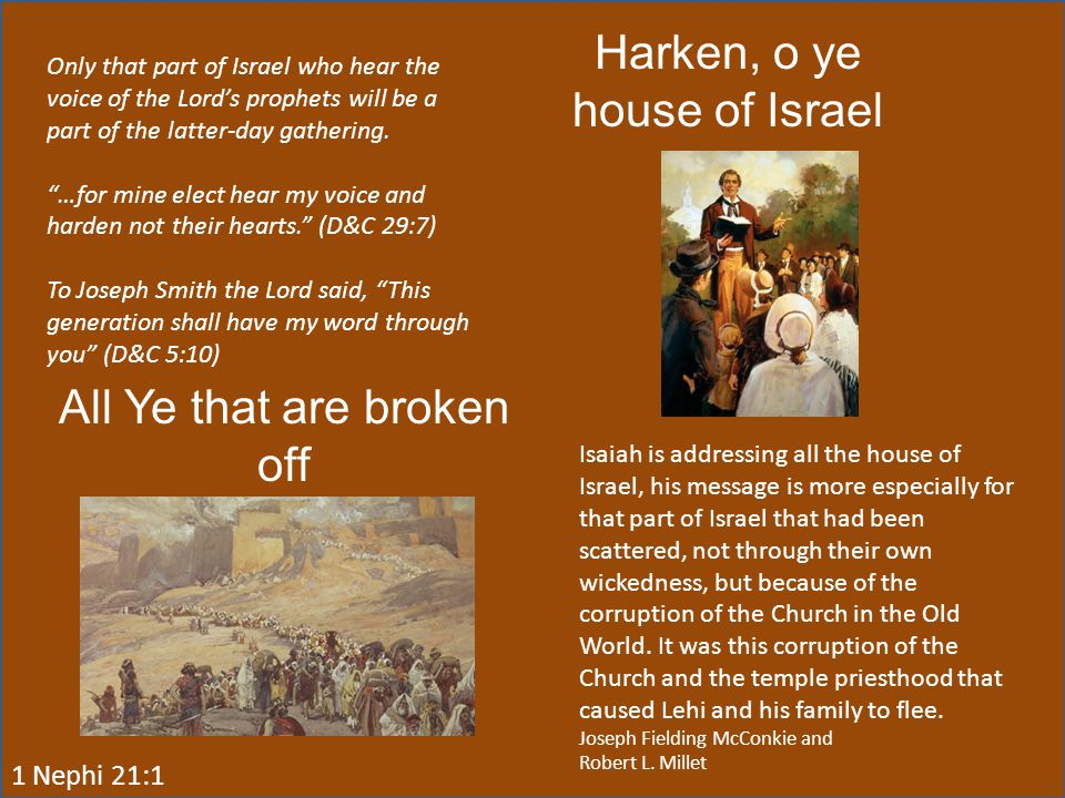 Harken, o ye house of Israel