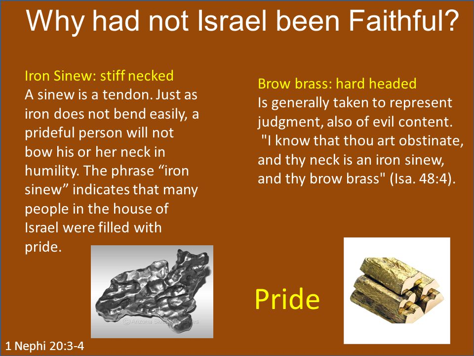 Why had not Israel been Faithful