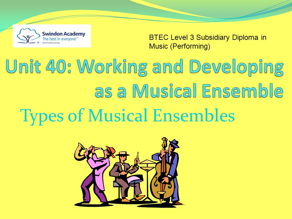 Unit 40: Working and Developing as a Musical Ensemble