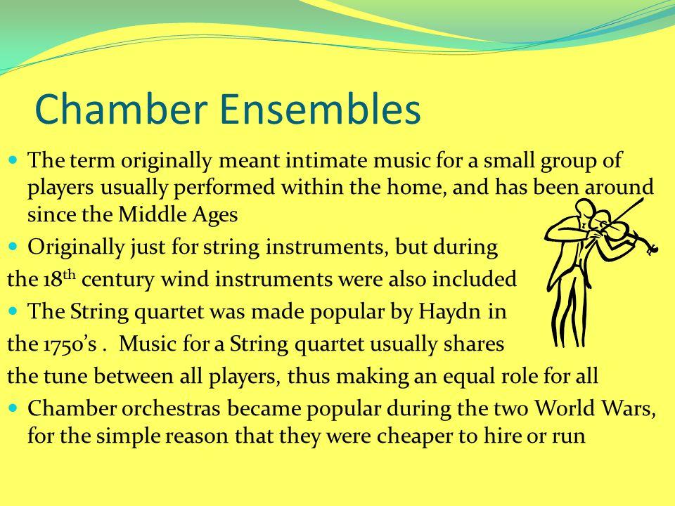 Chamber Ensembles