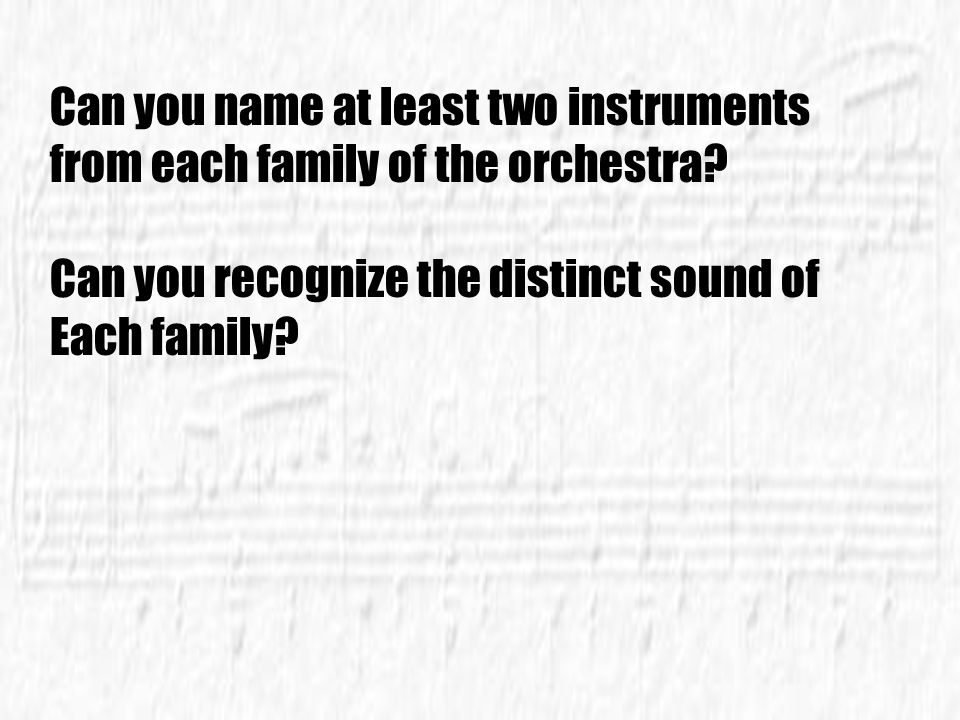 Can you name at least two instruments