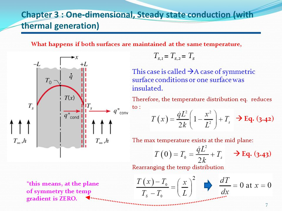 Chapter 3 : One-dimensional, Steady state conduction (with thermal generation)