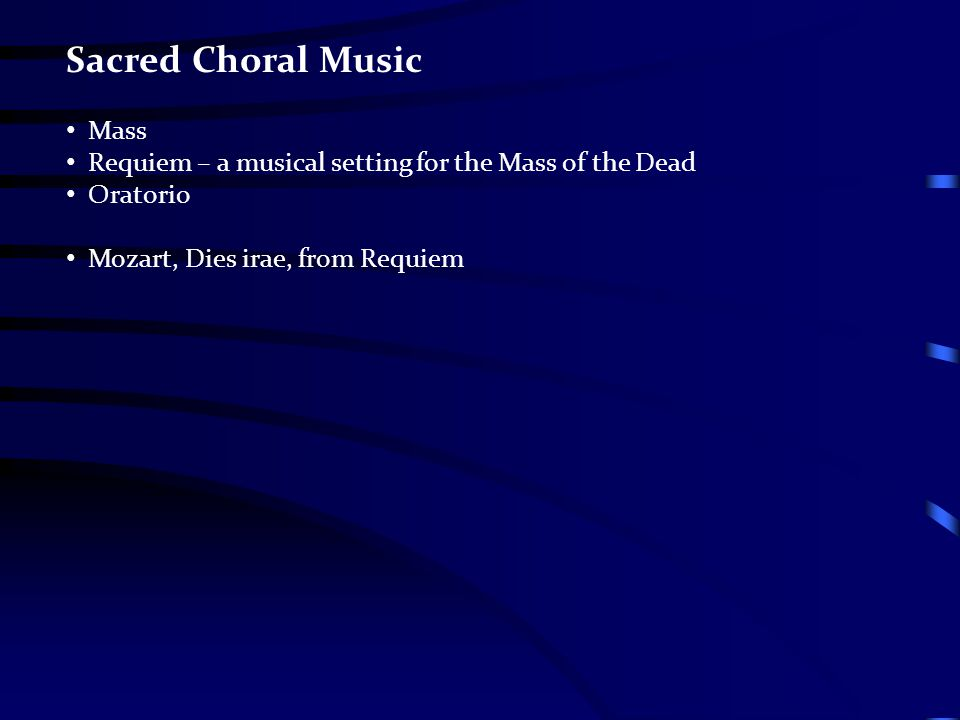 Sacred Choral Music Mass