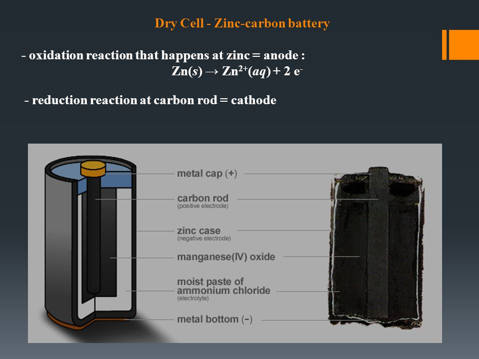 Dry Cell - Zinc-carbon battery