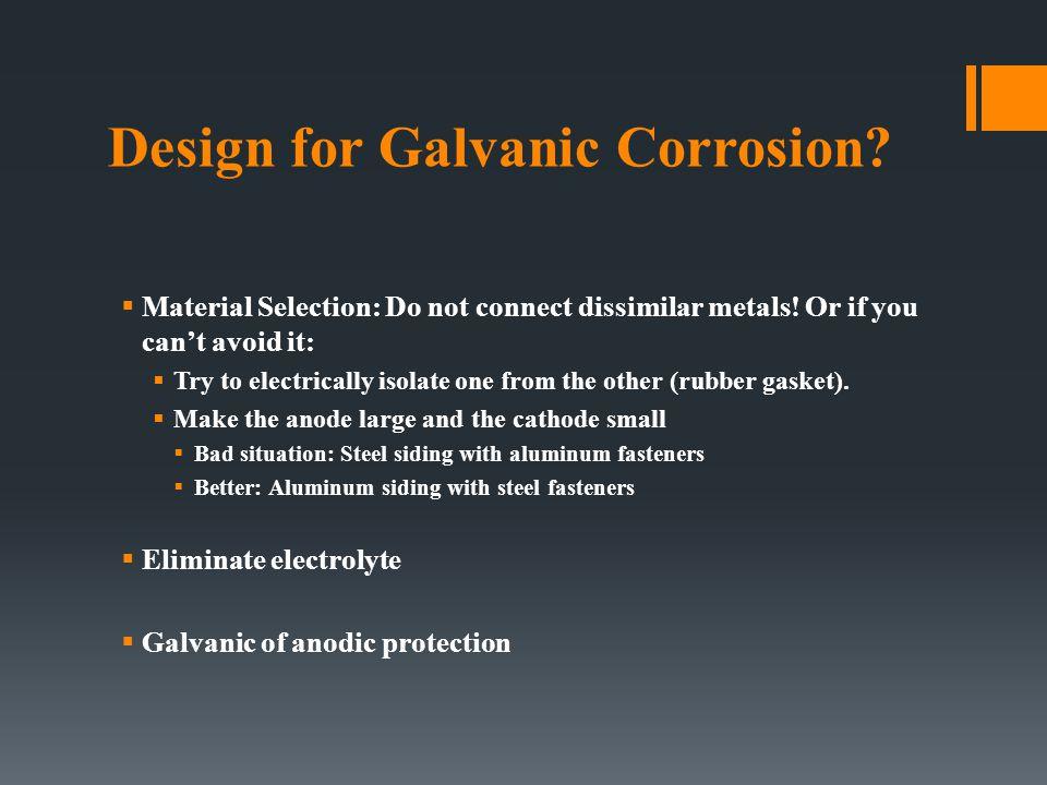 Design for Galvanic Corrosion