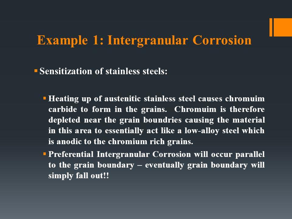 Example 1: Intergranular Corrosion