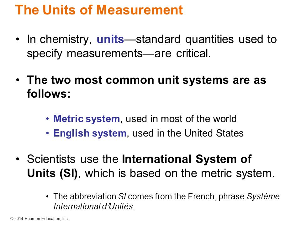 The Units of Measurement