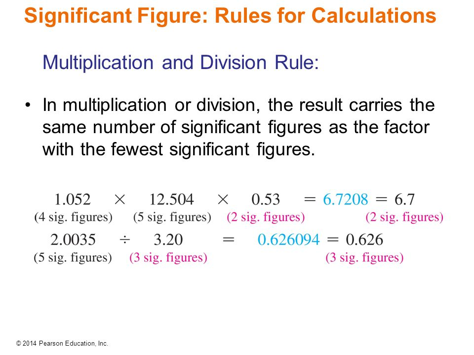 Significant Figure: Rules for Calculations