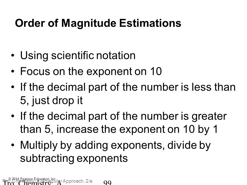 Order of Magnitude Estimations