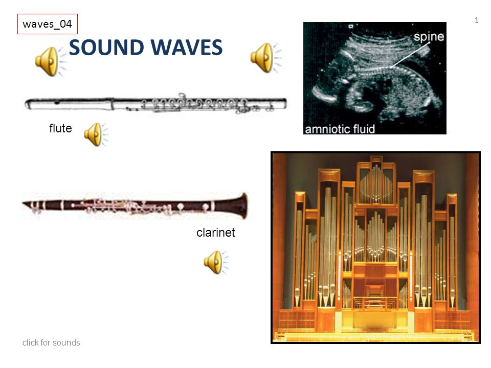 waves_04 SOUND WAVES flute clarinet click for sounds