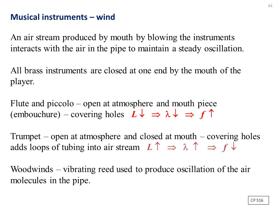 Musical instruments – wind