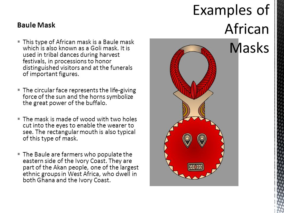 Examples of African Masks