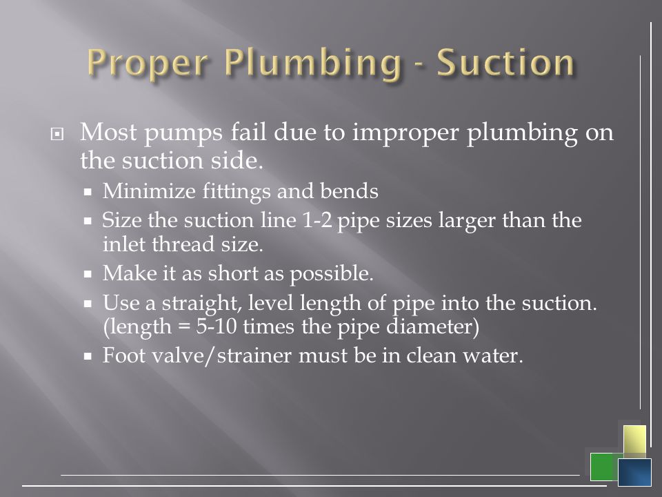Proper Plumbing - Suction
