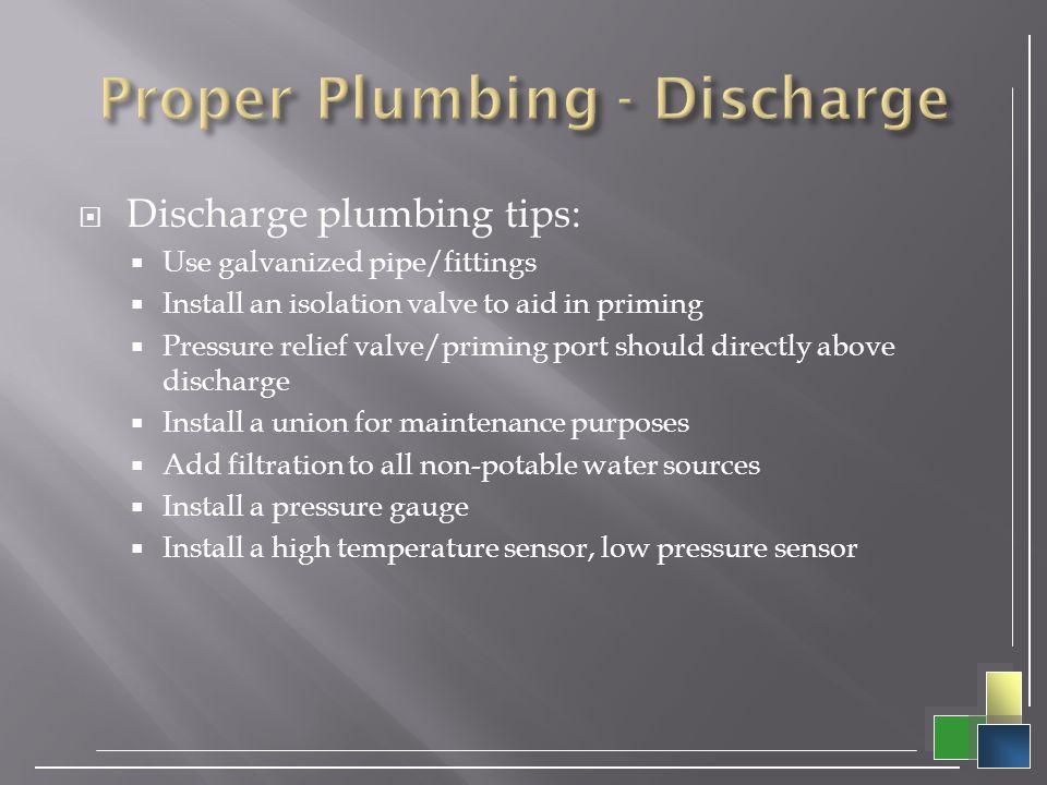 Proper Plumbing - Discharge