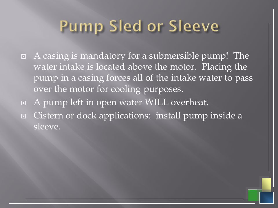 Pump Sled or Sleeve